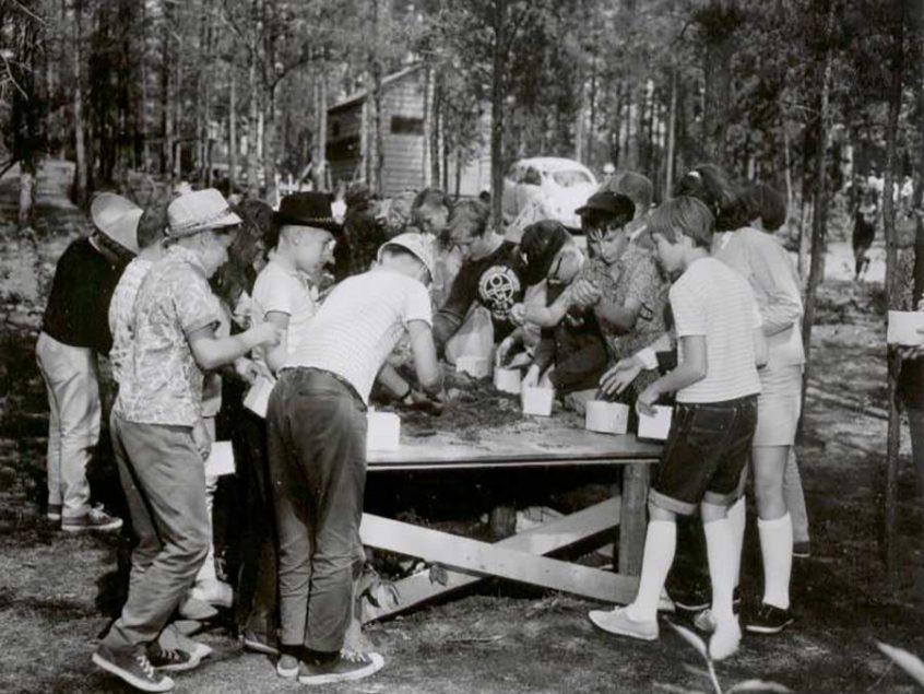 Kids in forest program